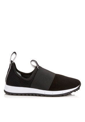 OAKLAND/F Black Mesh and Suede Trainers