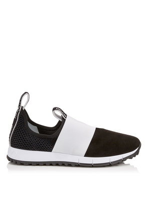 OAKLAND/F Black Mesh and Suede Trainers with White Logo Pull Detailing