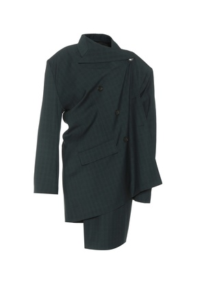 Pulled wool and mohair jacket