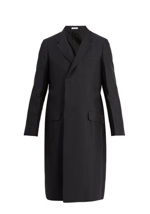 Pasolini notch-lapel overcoat