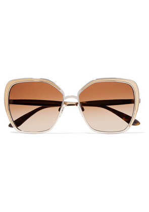 Dolce & Gabbana - Butterfly-frame Silver And Gold-tone Sunglasses - one size