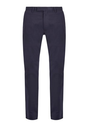 Mid-rise slim-leg stretch-cotton chino trousers