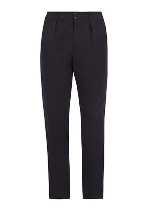 Jay cotton and linen-blend chino trousers