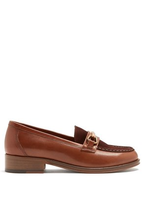 Diana suede and leather moccasins