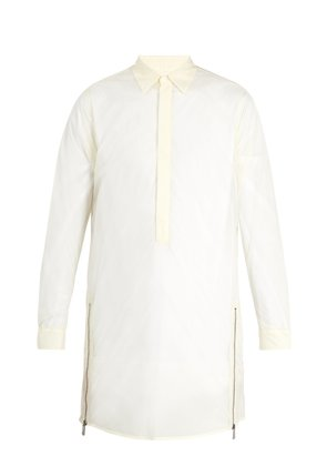 Pianta point-collar sheer shirt