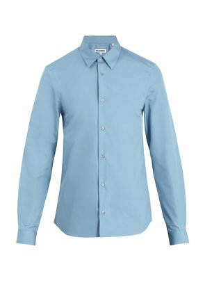 Pila point-collar cotton shirt