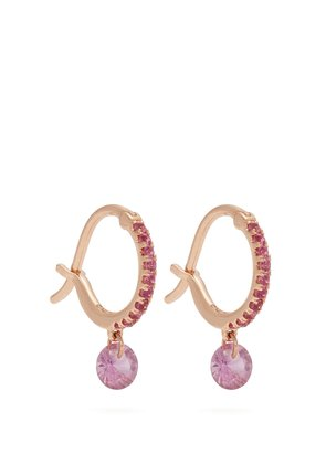 Set Free sapphire & rose-gold earrings