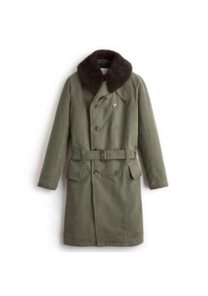 Private White V.C. Green Brushed Cotton Twill Jeep Coat