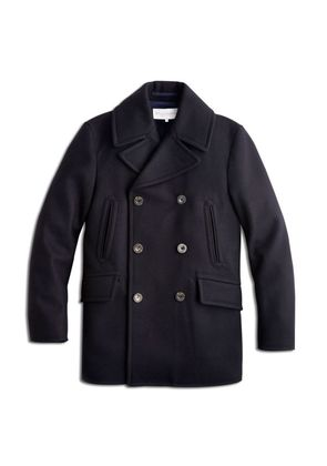 Private White V.C. Navy Manchester Wool Peacoat