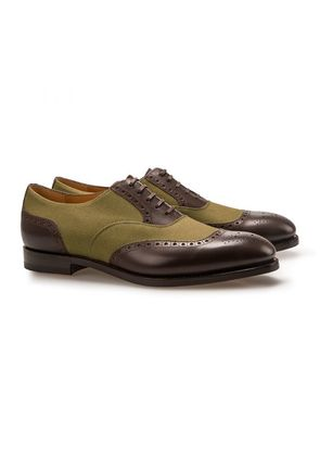 Barbanera Brown and Green Gatsby Saddle Shoes