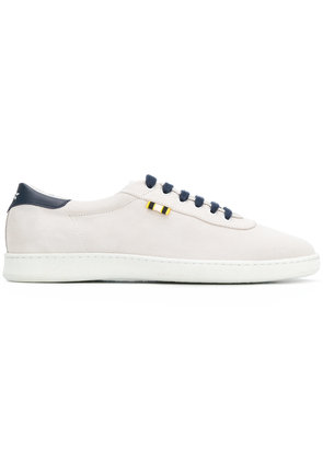 Aprix contrast lace-up sneakers - White