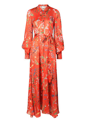 Alexis floral print maxi tea dress - Red