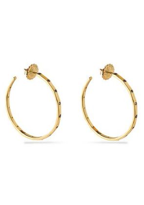 Ippolita Woman 18-karat Gold Crystal Hoop Earrings Gold Size -