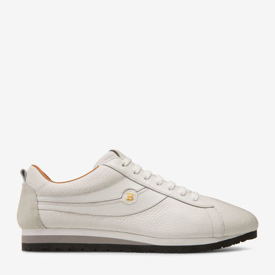 Bredy Green, Mens grained deer leather trainer in fango Bally