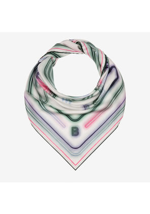 Cocktail Printed Wool Stole Pink, Womens wool and silk blend scarf in multi-blush Bally
