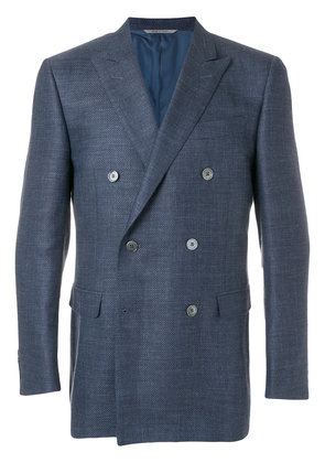 Canali classic double-breasted blazer - Blue
