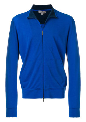 Canali front zipped cardigan - Blue