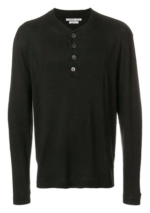 button detail sweater - Black Common Wild Outlet For Nice Factory Outlet Cheap Online Popular For Sale qZdJgRa1HB