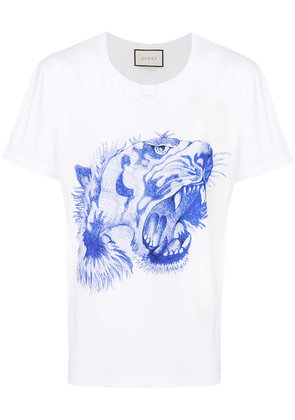 Gucci tiger's head print T-shirt - White