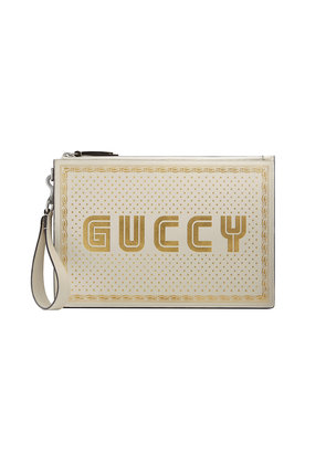 Gucci Guccy leather pouch - Nude & Neutrals