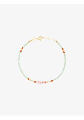 Anni Lu Green, Red and Orange Peppy Gold Plated Bracelet