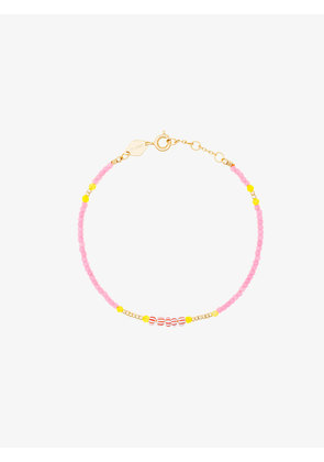 Anni Lu Pink And Yellow Peppy Gold Plated Bracelet