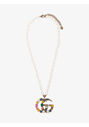 Gucci Crystal Double GG Necklace