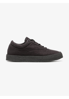 graphite Crepe suede canvas flat sneakers - Grey Yeezy by Kanye West msOQl