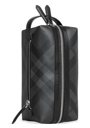 Burberry London Check and Leather Pouch - Black