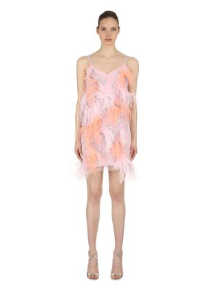 TULLE DRESS W/ SEQUINS & FEATHERS