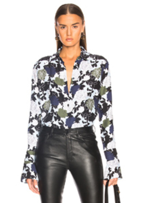 Equipment Daphne Top in Black,Green,Floral
