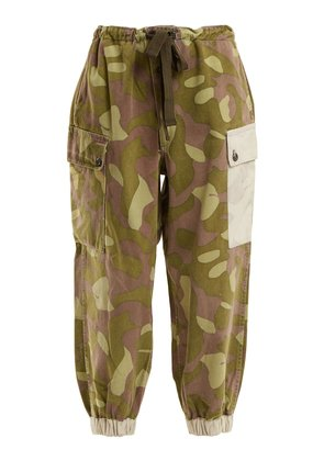 1990s FIP91 Finnish camouflage cotton trousers