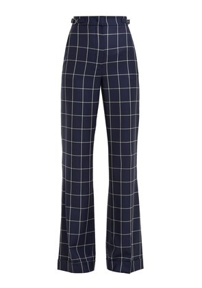 Vesta checked wool trousers