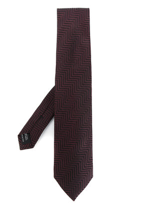 Tom Ford maze embroidered tie - Black