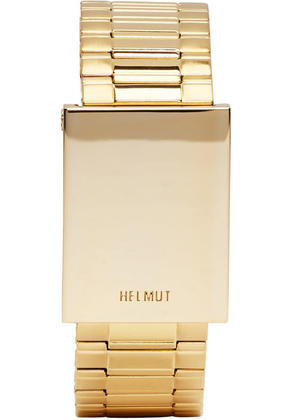 Helmut Lang Gold Shayne Oliver Faceless Watch Bracelet