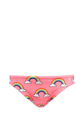 RAINBOW PRINT LYCRA SWIM BRIEFS