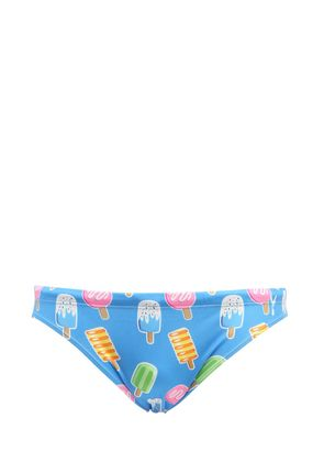 ICE CREAM PRINT LYCRA SWIM BRIEFS