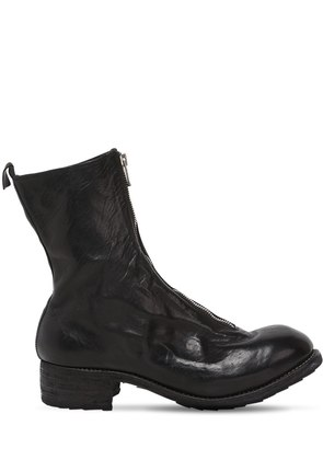 PL2 ZIP-UP FULL GRAIN LEATHER BOOTS