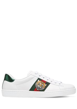 TIGER NEW ACE LEATHER SNEAKERS W/ AYERS