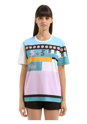 COUNTING 6 PRINTED COTTON JERSEY T-SHIRT