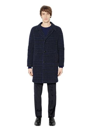 FADED HOUNDSTOOTH ALPACA BLEND COAT