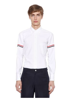 COTTON OXFORD SHIRT W/ STRIPED ARM BANDS Websites Cheap Online With Mastercard For Sale For Cheap Online Outlet Locations qpGwVps