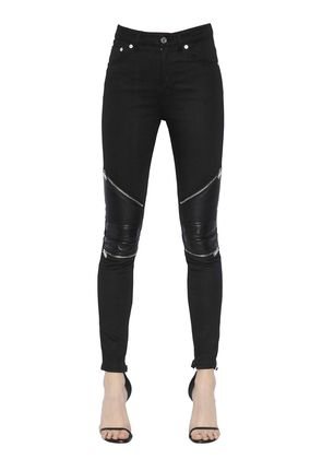 BIKER STRETCH COTTON DENIM JEANS