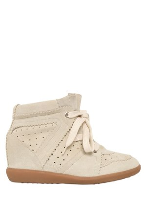 80MM BOBBY SUEDE WEDGE SNEAKERS