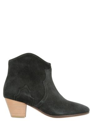 50MM DICKER SUEDE ANKLE BOOTS
