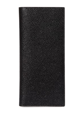 PEBBLED LEATHER VERTICAL WALLET