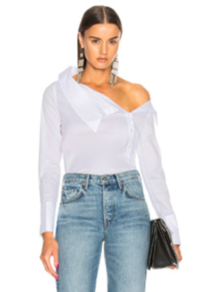 NICHOLAS Asymmetric Top in White