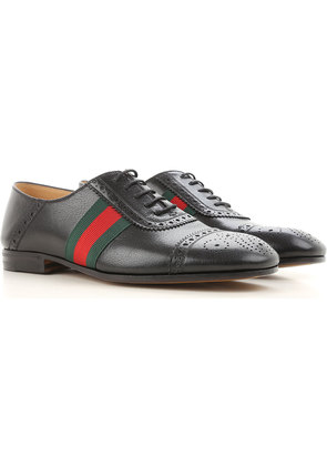 Gucci Brogue Shoes On Sale in Outlet, Black, Leather, 2017, 5 6 7 8.5 9