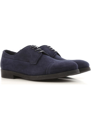 Dolce & Gabbana Lace Up Shoes for Men Oxfords, Derbies and Brogues On Sale in Outlet, Blue Navy, Velvet, 2017, 5.5 6.5 9 9.5