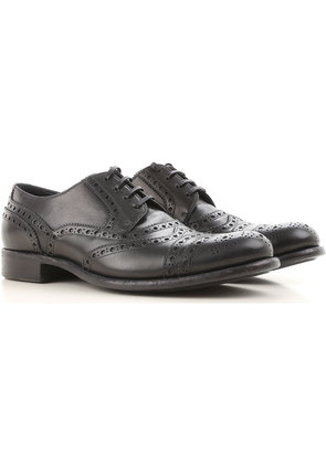 Dolce & Gabbana Brogue Shoes On Sale in Outlet, Black, Leather, 2017, 10.5 8 9.5